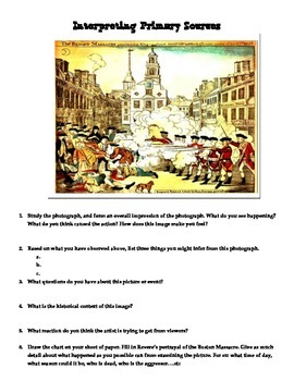 Interpreting Primary Sources: The Boston Massacre