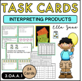 Interpreting Products Task Cards (3.OA.A.1)