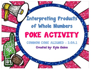 3.OA.1 Word Problem Multiplication 1-Digit by 1-Digit POKE