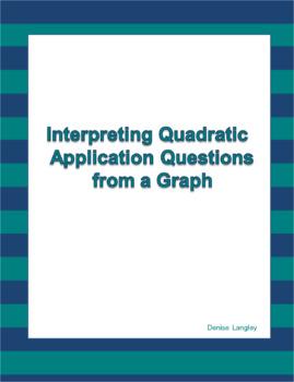 Interpreting Quadratic Application Questions from a Graph