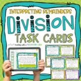 Interpreting Remainders Division Task Cards