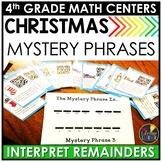 Interpreting Remainders Division Word Problems Christmas Game