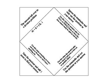 Interpreting Remainders Foldable