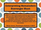 Interpreting Remainders Scavenger Hunt