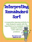 Interpreting Remainders Sort - 4th Grade Math Center Activity - CCSS 4.OA.3