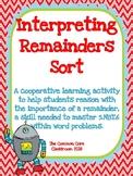 Interpreting Remainders Sort - 5th Grade Math Center Activity - CCSS 5.NBT.6