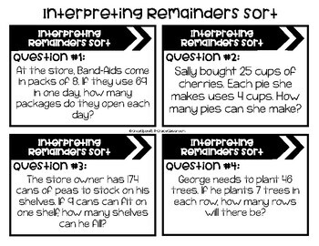 Interpreting Remainders Sort with 1-Digit Divisors