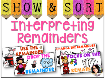 Interpreting Remainders Sorting Activity COMMON CORE ALIGNED 4.OA.3