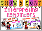 Interpreting Remainders Sorting Activity COMMON CORE ALIGN