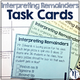 Interpreting Remainders Task Cards and Foldable