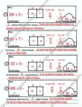 Interpreting Remainders Tour of Knowledge (8 word problems)