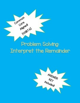 Interpreting Remainders Word Problems