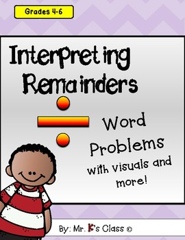 Interpreting Remainders Division Word Problems