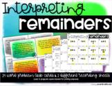Interpreting Remainders Word Problems Task Cards