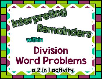 Division with Remainders: Interpreting Remainders