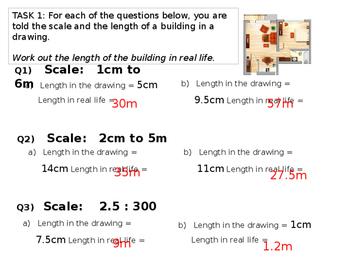 Interpreting Scale Drawings