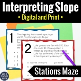 Interpreting Slope and Intercepts Stations Maze