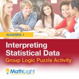 Interpreting Statistical Data Group Logic Puzzle Activity