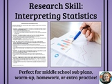 Interpreting Statistics Worksheet