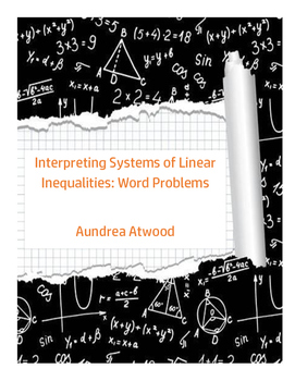 Interpreting Systems of Linear Inequalities: Word Problems