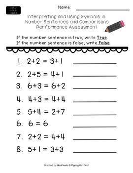 Interpreting & Using Symbols in Number Sentences & Comparisons