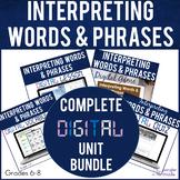 Poetry Interpreting Words and Phrases DIGITAL BUNDLE