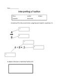 Interpreting a Fraction