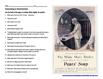 Interpreting an Advertisement - Pears' Soap (1899)