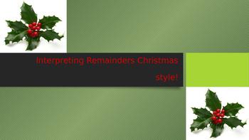 Interpreting remainders Christmas style
