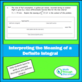 Interpreting the Meaning of a Definite Integral