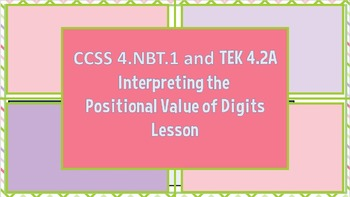 Interpreting the Positional Value of Digits