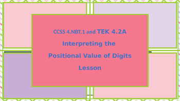 Interpreting the  Positional Value of Digits Lesson