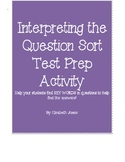 Interpreting the Question Sort Test Prep Activity