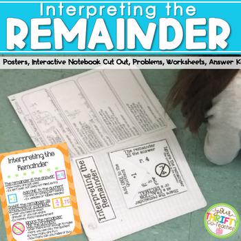 Interpreting Remainders Worksheet Teaching Resources Teachers Pay