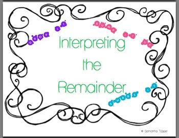 Interpreting the Remainder Posters