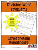 Interpreting the Remainder in Division Word Problems