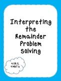 Interpreting Remainders Problem Solving