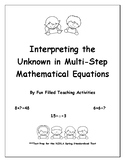 Interpreting the Unknown in Multi-Step Mathematical Equations