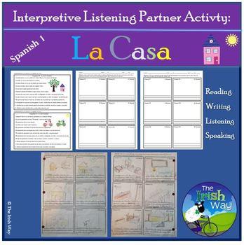 Interpretive Listening - La Casa- Partner Activity