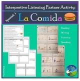 La Comida - Food - Interpretive Listening Partner Activity