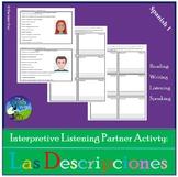 Interpretive Listening - Las Descripciones y Las Personalidades - Partner Activ.