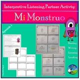 Interpretive Listening - Las Partes del Cuerpo - Body parts Partner Activity