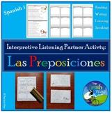 Interpretive Listening - Las Preposiciones y Los Muebles - Partner Activity