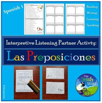 Las Preposiciones (Los Muebles) - Interpretive Listening Partner Activity