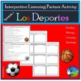 Los Deportes - Sports - Interpretive Listening Partner Activity