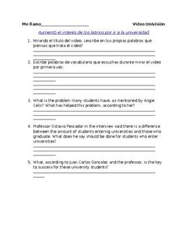 Interpretive Questions: Univision Video