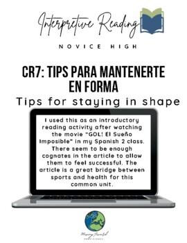 Interpretive Reading: Tips para mantenerse en forma
