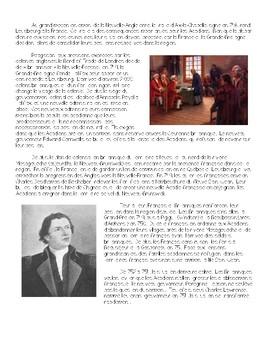Interpretive Reading activity: La Déportation des Acadiens