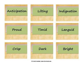 Interpretive Word Cards for Singers