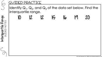 Interquartile Range Digital Math Notes
